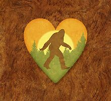 Bigfoot Heart by cesstrelle