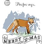 The fox says.. merry X-mas by StudioRenate
