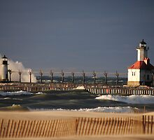 St Joseph North Pier Lighthouse - 2 by Debbie Mueller