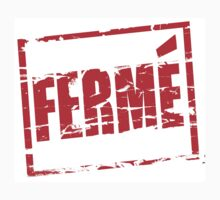 Ferme red rubber stamp effect by stuwdamdorp