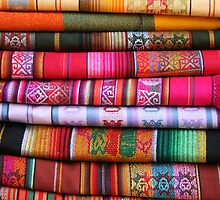 Stacked Table Linens in Otavalo by rhamm