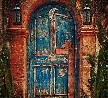Vintage Blue Door by cesstrelle