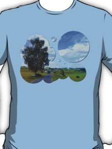 Old tree, country road and a cloudy sky | landscape photography T-Shirt