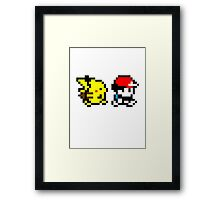 Pokemon Ash and Pikachu Framed Print