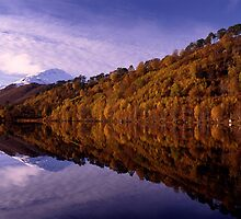 Autumn reflections, Loch Affrich by Kevin Allan
