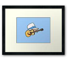 Fedora Crooner Framed Print