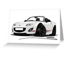 Mazda MX5 (Mk3) Kuro Edition Greeting Card