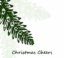 Christmas Cheers - Pinecones - Christmas Card by red addiction