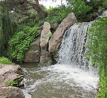 Waterfall Garden by Kathie  Chicoine