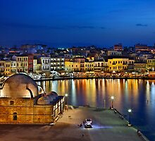 The old Venetian port of Chania by Hercules Milas