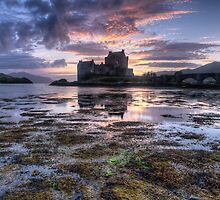 Eilean Donan Castle at sunset by Guy  Berresford