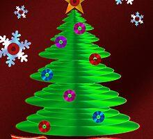 CD Christmas Tree by jkartlife