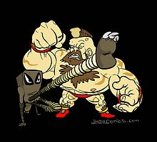 Hitmonlee VS Zangief by JhallComics