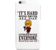 The Imp: Drunk All Day iPhone Case/Skin