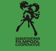 Saskatchewan Filmpool Cooperative logo over the heart 2 - black by SaskFilmpool