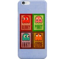 Blinky, Inky, Pinky and Clyde iPhone Case/Skin