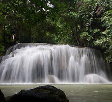 Tier Two Erawan Falls by Kenji Ashman