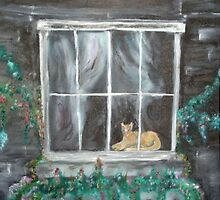 Feline in the Window by tusitalo