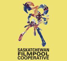 Saskatchewan Filmpool Cooperative large colourful logo - black Kids Clothes