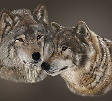 TIMBER WOLVES by Martin  Wilneff