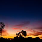windmill sunset by oonaphotography