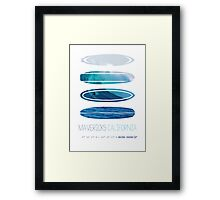 My Surfspots poster-2-Mavericks-California Framed Print