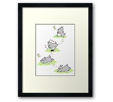 Totoro Chases a Butterfly! [Apparel & Transparent Stickers] Framed Print