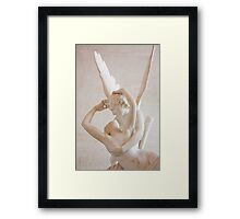 Psyche revived by Cupid's kiss Framed Print