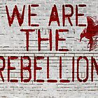 Hunger Games We are the Rebellion Mockingjay by geekchicprints
