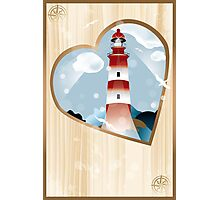 memories - souvenirs (poster with lighthouse) Photographic Print