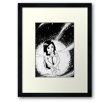 girl from outer space Framed Print