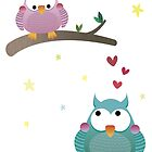Love Owls by estherilustra
