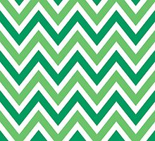 Chevrons, Zigzag Background, Green White by roughcollie5