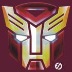 IronBot - Ironman Autobot Symbole - Dark Red Shirt  by EdUnderground