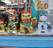 DC Chinatown Waving Cats by Allison Patel