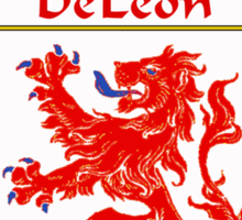 DeLeon Coat of Arms/Family Crest Sticker