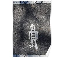 Washington Crosswalk Walking Man Poster