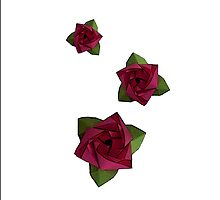 Origami Cubic Rose by xumbrex