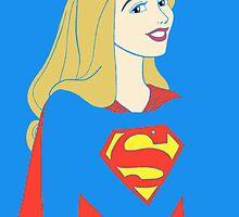 Princess Aurora as Supergirl by CraftyChloe23