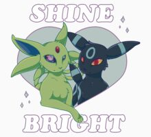 """Shine Bright"" Umbreon and Espeon by cervocerus"