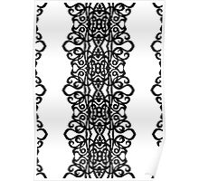 Lace Embroidery Design Poster