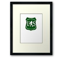 US Bigfoot Service  Framed Print
