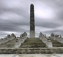 The Gustav Vigeland Obelisk by Larry Lingard-Davis
