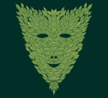 Green Man Mask by SusanSanford