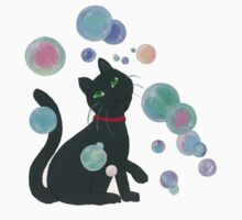 Cat with bubbles by arumfaerie