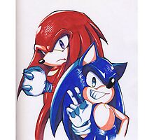 Sonic and Knuckles  by OwlBuggJunk
