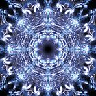 Fractal mandala black by Manafold Art