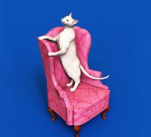 Oriental Cat on Armchair iPhone/iPod/Samsung by Roberta Angiolani