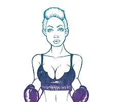 boxing girl colorful by guillaume bachelier