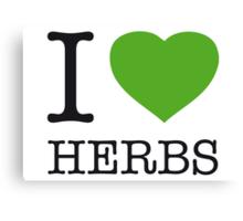 I ♥ HERBS Canvas Print